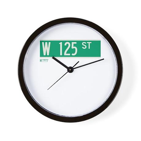 125th Street in NY Wall Clock