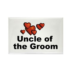 Hearts Uncle of the Groom Rectangle Magnet (10 pac