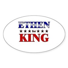ETHEN for king Oval Decal