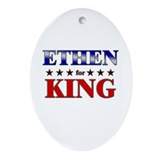 ETHEN for king Oval Ornament