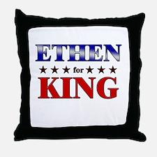 ETHEN for king Throw Pillow