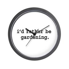 i'd rather be gardening. Wall Clock