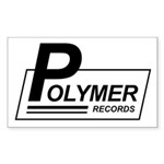 Polymer Records Rectangle Sticker