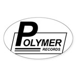 Polymer Records Oval Sticker