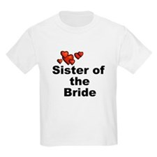 Hearts Sister of the Bride T-Shirt