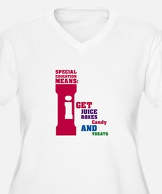 Special Education Means: Juice Boxes T-Shirt