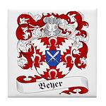 Beyer Family Crest Tile Coaster