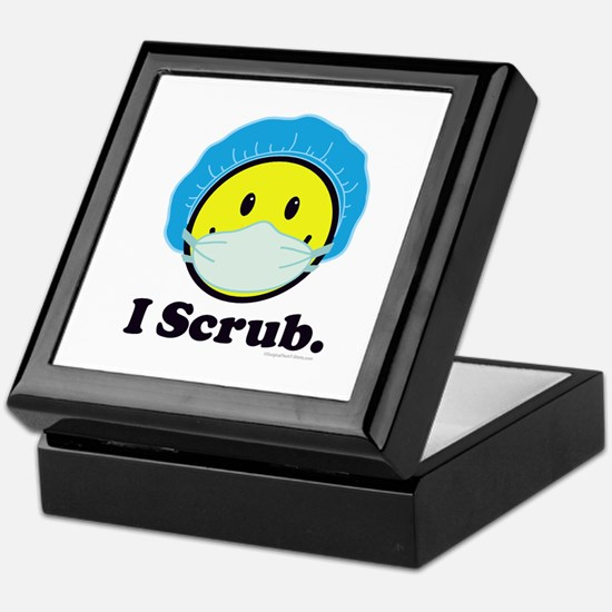 I Scrub Surgical Tech Keepsake Box