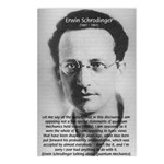 Erwin Schrodinger: Physics Postcards (Package of 8