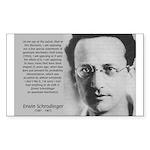 Erwin Schrodinger: Physics Rectangle Sticker