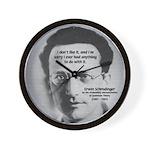 Erwin Schrodinger: Physics Wall Clock