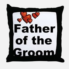 Hearts Father of the Groom Throw Pillow