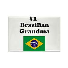 #1 Brazilian Grandma Rectangle Magnet