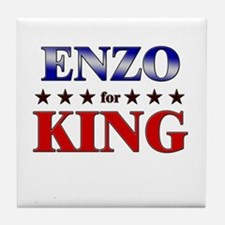 ENZO for king Tile Coaster