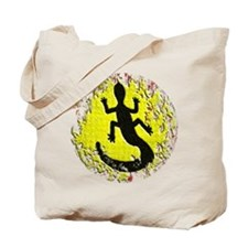 Dot Painting Lizard Tote Bag