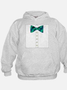 green bow tie tuxedo Hoodie