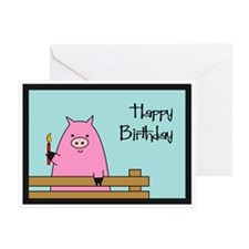 Birthday Pig Greeting Cards (Pk of 20)