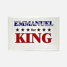 EMMANUEL for king Rectangle Magnet