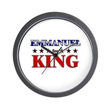 EMMANUEL for king Wall Clock