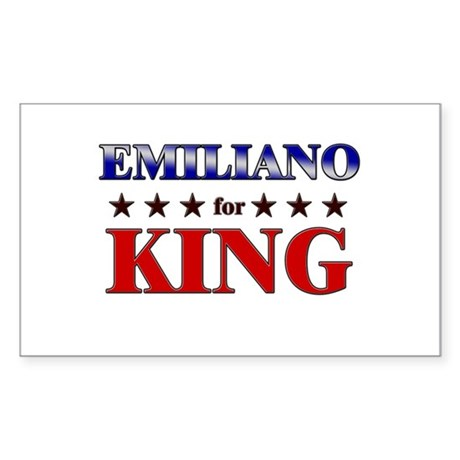 EMILIANO for king Rectangle Sticker