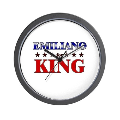 EMILIANO for king Wall Clock