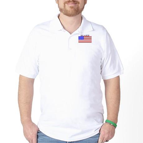 Blake USA American Flag Golf Shirt