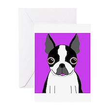 Boston Terrier (Black) Greeting Card