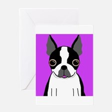 Boston Terrier (Black) Greeting Card
