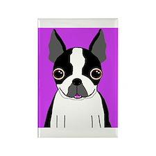 Boston Terrier (Black) Rectangle Magnet