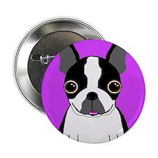 "Boston Terrier (Black) 2.25"" Button"