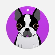 Boston Terrier (Black) Ornament (Round)