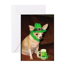 Irish Chihuahua Greeting Card