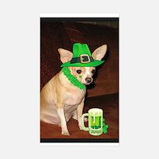 Irish Chihuahua Rectangle Decal