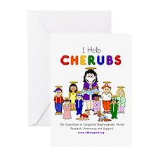 """""""I Help CHERUBS"""" Doctor Aviva Logo Greeting Cards"""