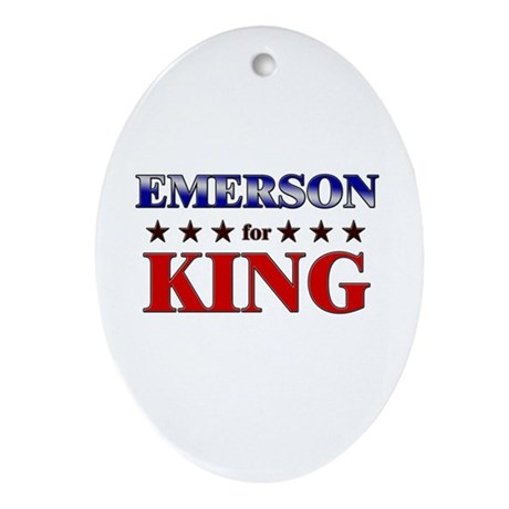 EMERSON for king Oval Ornament
