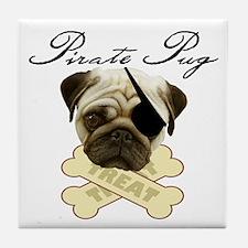 Pirate Pug - Tile Coaster