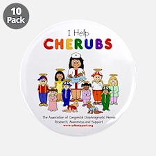 """I Help CHERUBS"" Nurse Jan Logo Character 3.5"" But"