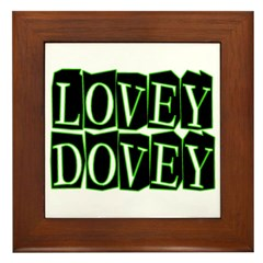 Lovey Dovey Framed Tile