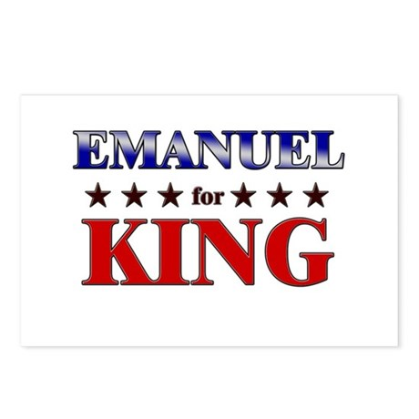 EMANUEL for king Postcards (Package of 8)