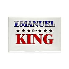 EMANUEL for king Rectangle Magnet