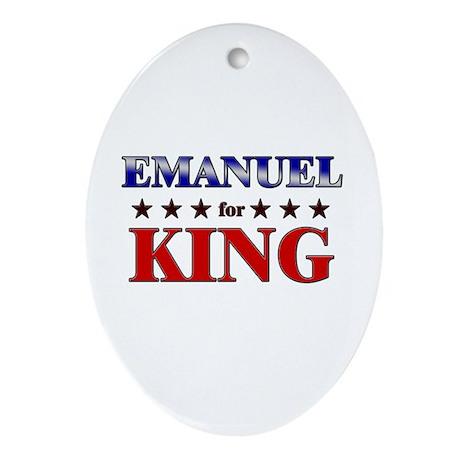 EMANUEL for king Oval Ornament