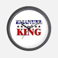 EMANUEL for king Wall Clock