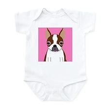 Boston Terrier (Brown) Infant Bodysuit