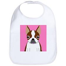 Boston Terrier (Brown) Bib