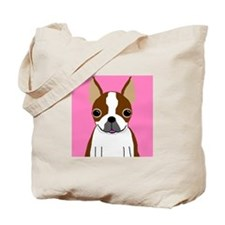 Boston Terrier (Brown) Tote Bag