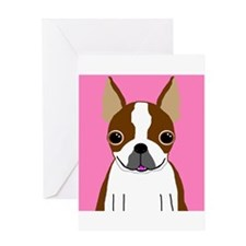 Boston Terrier (Brown) Greeting Card