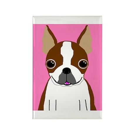 Boston Terrier (Brown) Rectangle Magnet (100 pack)