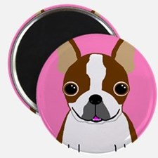 "Boston Terrier (Brown) 2.25"" Magnet (10 pack)"