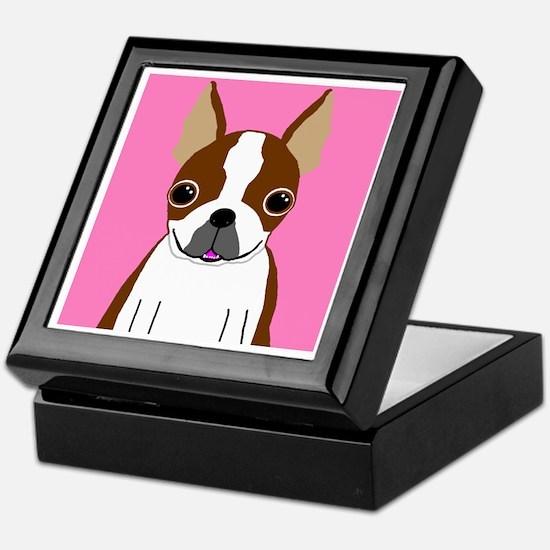 Boston Terrier (Brown) Keepsake Box