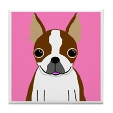 Boston Terrier (Brown) Tile Coaster